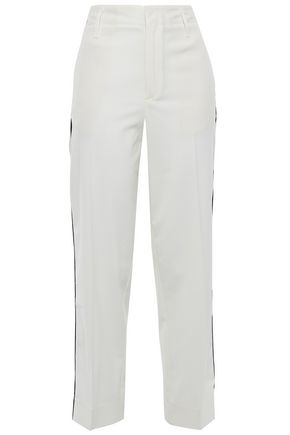 FORTE_FORTE Cropped crepe straight-leg pants