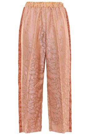 FORTE_FORTE Cropped jacquard wide-leg pants