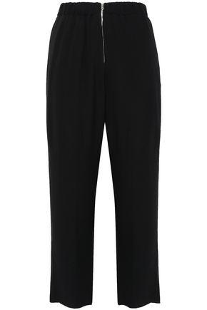 FORTE_FORTE Cropped crinkled-crepe track pants