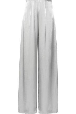 LES HÉROÏNES by VANESSA COCCHIARO The Coco metallic satin wide-leg pants