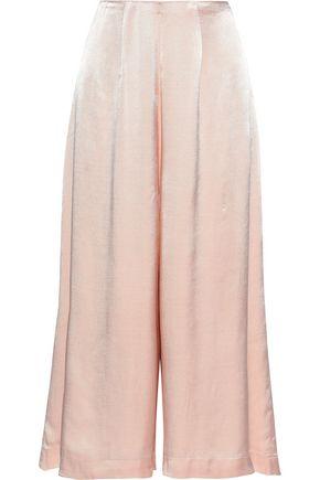 LES HÉROÏNES by VANESSA COCCHIARO The Rosa satin culottes