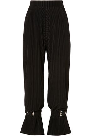 SID NEIGUM Buckle-embellished corduroy straight-leg pants