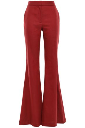 ADAM LIPPES Hemp-blend canvas flared pants