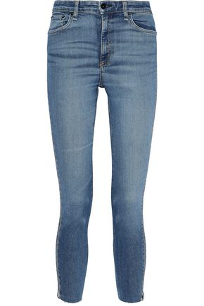 RAG & BONE Nina zip-detailed faded high-rise skinny jeans