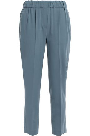 BRUNELLO CUCINELLI Cropped stretch-wool tapered pants