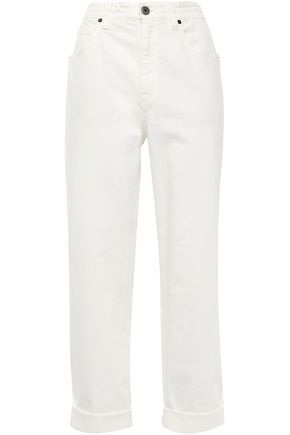 BRUNELLO CUCINELLI Cropped high-rise straight-leg jeans