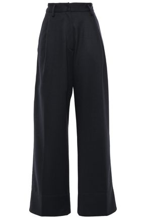 FORTE_FORTE Pleated wool-felt wide-leg pants