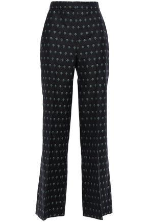 ALEXACHUNG Wool-blend jacquard bootcut pants