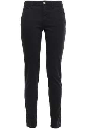 JUST CAVALLI Embroidered mid-rise slim-leg jeans