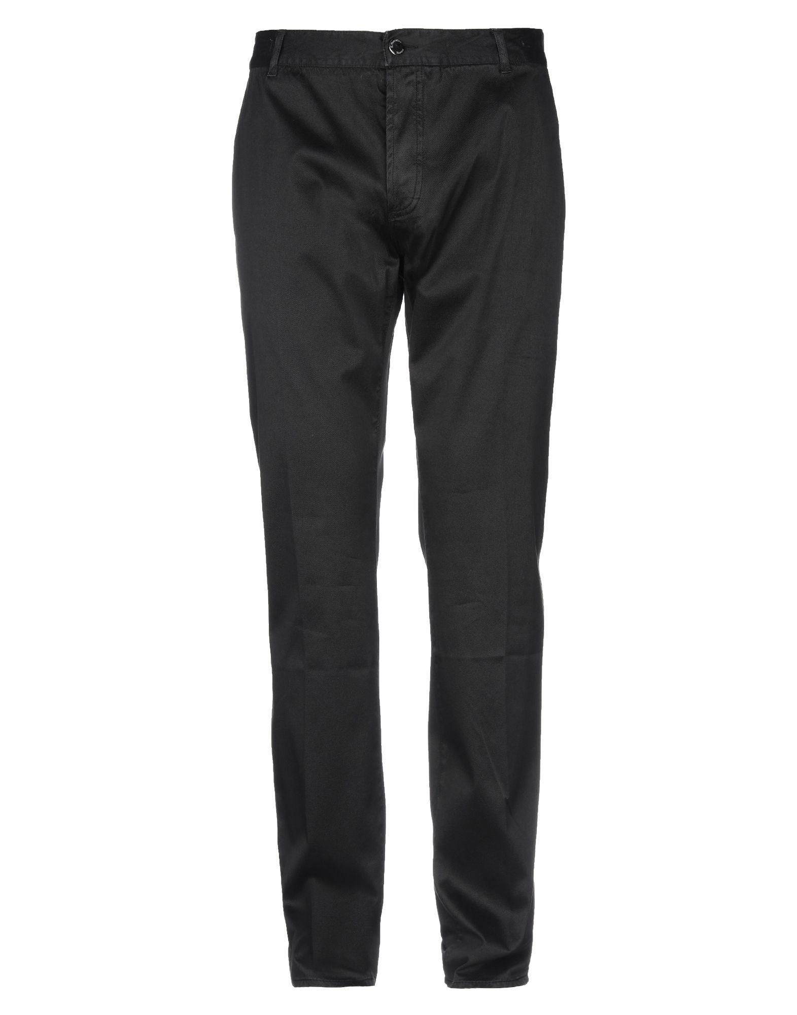 《期間限定 セール開催中》E.MARINELLA メンズ パンツ ブラック 30 コットン 98% / ポリウレタン 2%