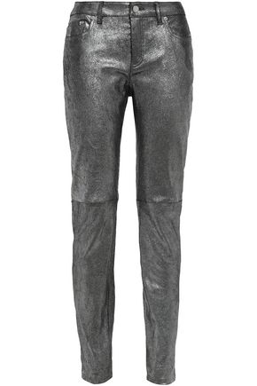 MICHAEL MICHAEL KORS Coated leather skinny pants
