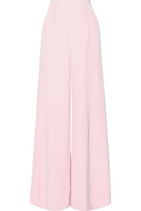 CUSHNIE Silk-cady wide-leg pants