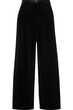 IRIS & INK Kai velvet wide-leg pants