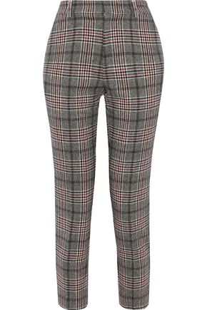 IRIS & INK Kaira Prince of Wales checked jacquard slim-leg pants