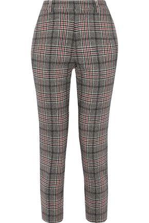 Kaira Prince Of Wales Checked Jacquard Slim Leg Pants by Iris & Ink