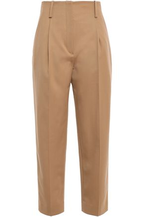 SANDRO Pleated twill pants