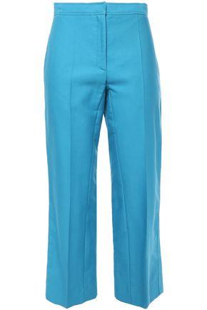 SANDRO Allaire cropped cotton-blend straight-leg pants