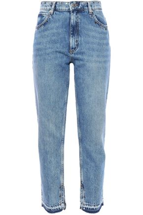SANDRO Embellished high-rise slim-leg jeans