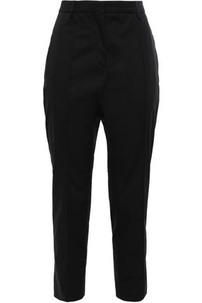 ROCHAS Cotton-blend twill slim-leg pants