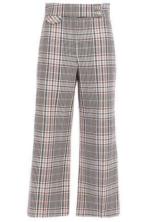 VERONICA BEARD Cropped stretch-cotton straight-leg pants