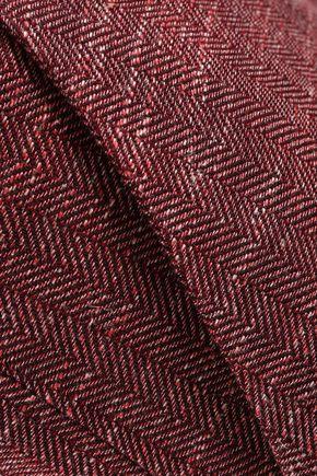 VERONICA BEARD Cropped wool, cotton and linen blend straight-leg pants