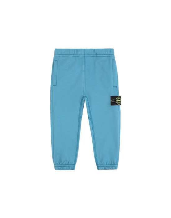 STONE ISLAND JUNIOR 61544  Fleece Trousers Man Teal