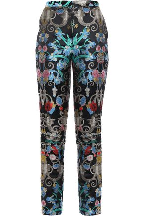 MARY KATRANTZOU Brocade slim-leg pants