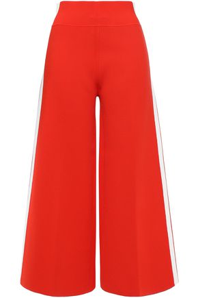 VERONICA BEARD Roland striped stretch-ponte culottes