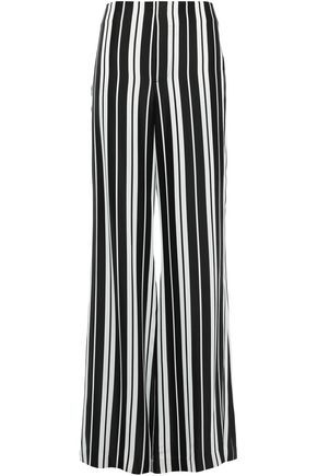 ALICE + OLIVIA Dylan striped satin wide-leg pants