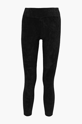 IRO Tadonis cropped stretch-suede leggings