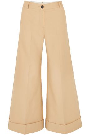 KHAITE Carine cotton-twill wide-leg pants