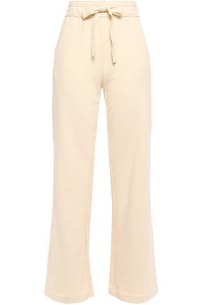 VINCE. French cotton-terry straight-leg pants