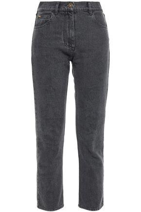 NANUSHKA Cropped mid-rise slim-leg jeans