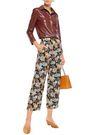 NANUSHKA Varsaro cropped floral-jacquard wide-leg pants