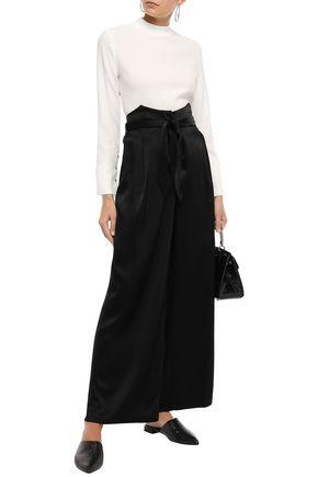 NANUSHKA Marie belted satin wide-leg pants