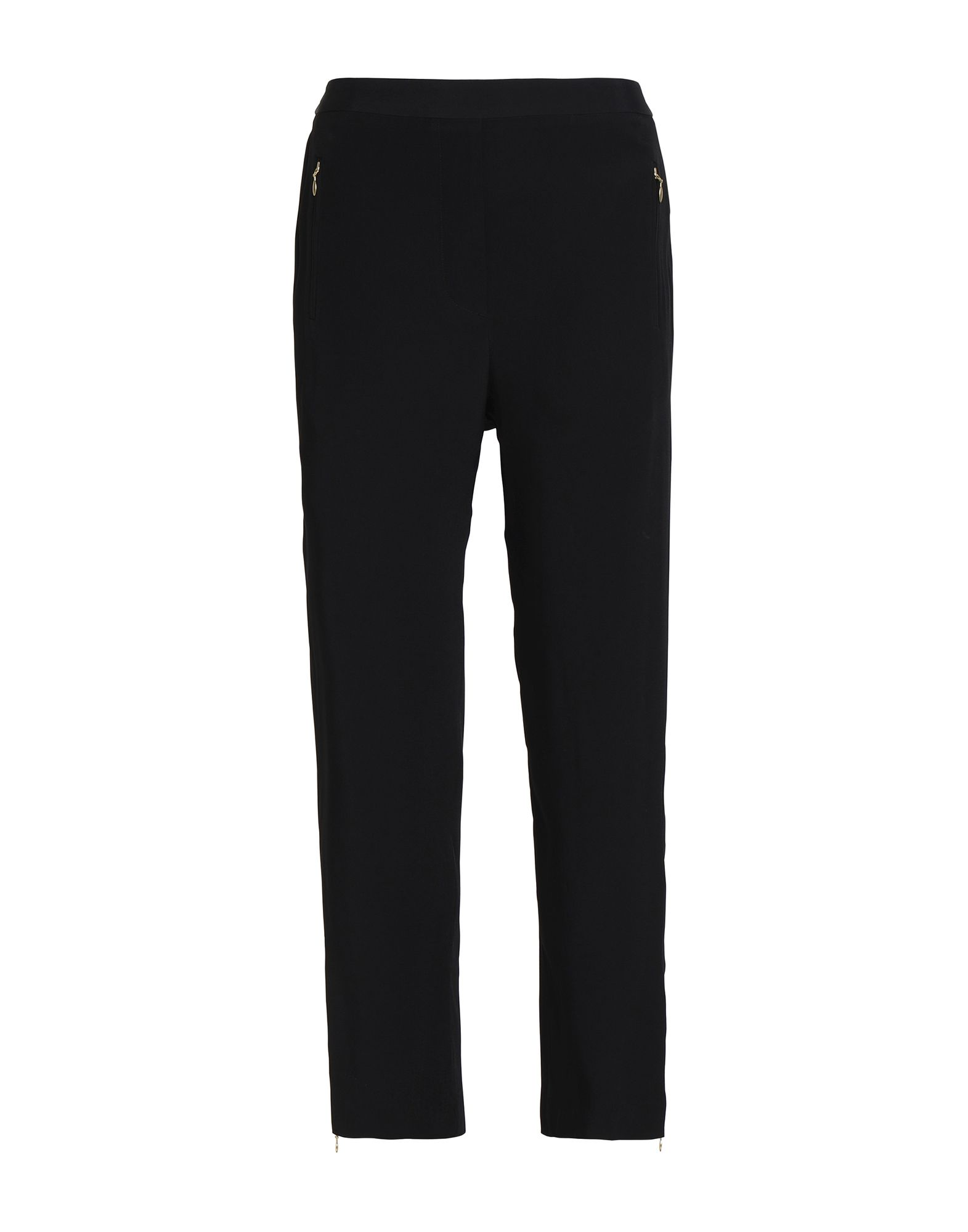 ZIMMERMANN Casual pants. cady, no appliqués, basic solid color, high waisted, regular fit, tapered leg, elasticized waist, multipockets, pocket with zipper, zips at hem. 100% Viscose
