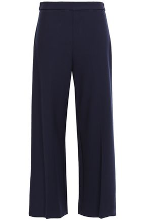 REBECCA TAYLOR Cropped stretch-cady wide-leg pants