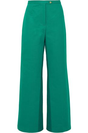 ACNE STUDIOS Tyrah cotton-twill wide-leg pants