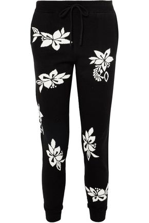 CHINTI & PARKER Hibiscus cashmere track pants