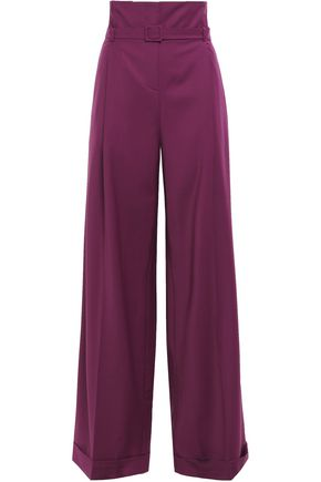 ANNA OCTOBER Pleated woven wide-leg pants