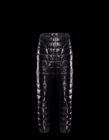 PADDED TROUSERS Black 2 Moncler 1952 Valextra