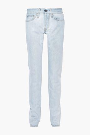 HELMUT LANG Masc Lo Drainpipe faded low-rise slim-leg jeans