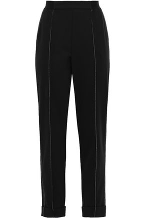 DKNY Cropped stretch-crepe pants