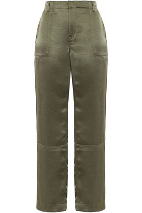 DKNY Cropped satin straight-leg pants