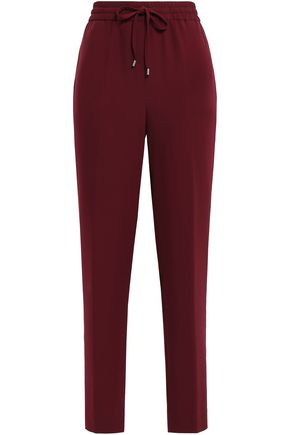 DKNY Gathered stretch-crepe track pants