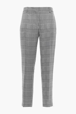EMILIO PUCCI Cropped checked twill tapered pants