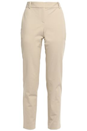 THEORY Cropped cotton-blend twill slim-leg pants