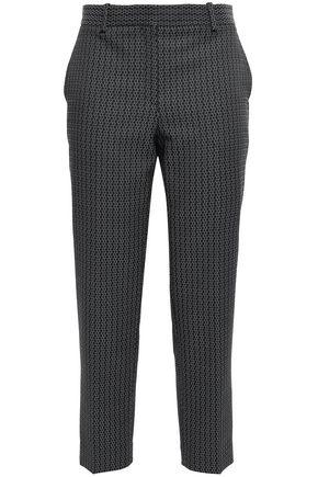 THEORY Cropped stretch-jacquard slim-leg pants