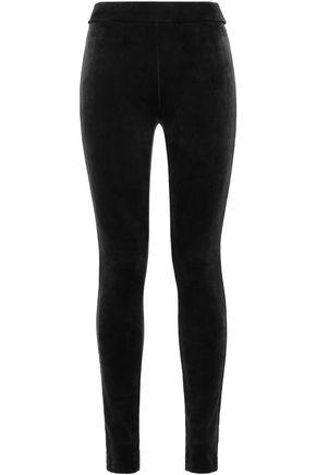 THEORY Stretch-velvet leggings