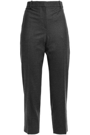 THEORY Treeca mélange wool-blend flannel tapered pants